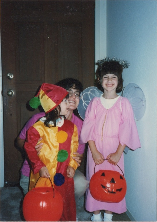 [Me / Mom / Miriam happy on Halloween in California, during the four months we lived in San Diego]